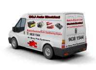 B and J Auto Electrical service van